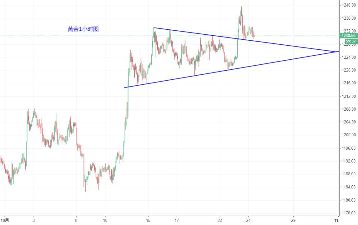黃金/美元技術分析:關注1230一線支撐做多機會